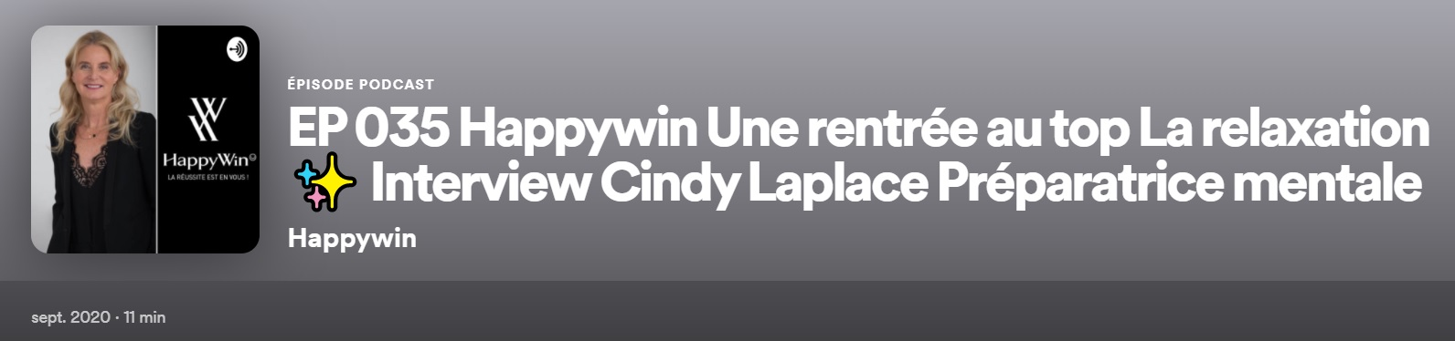 podcast relaxation cindy Laplace